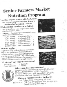 2017 Senior Farmers Market Program